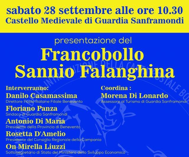 """Francobollo celebrativo Sannio Falanghina """"Città Europea del Vino 2019"""""""
